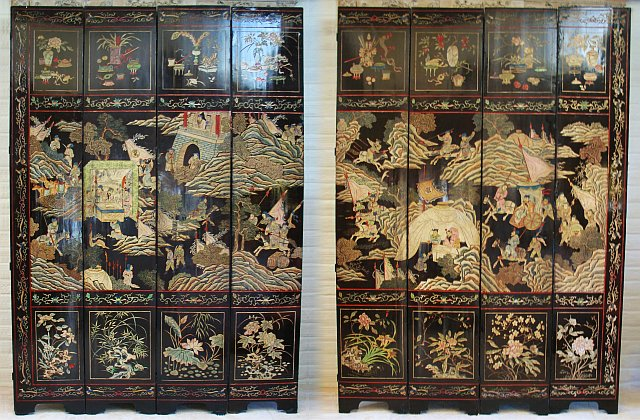 Eight Panel Coromandel Screen 1