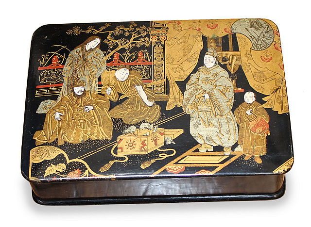 Japonais Style Papier Maché Jewelry Box