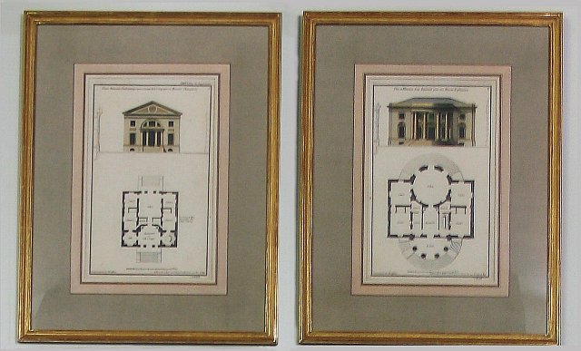 Set of Six French Architectural Engravings