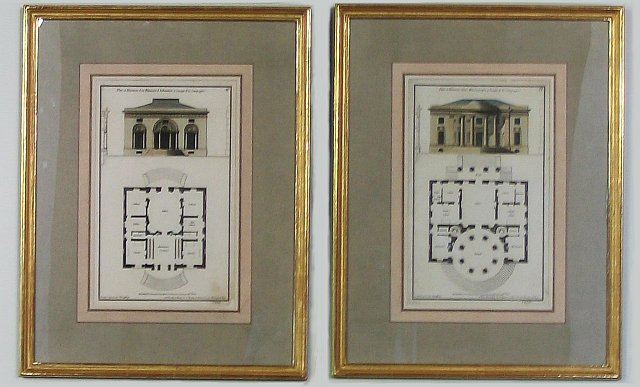 Set of Six French Architectural Engravings 1