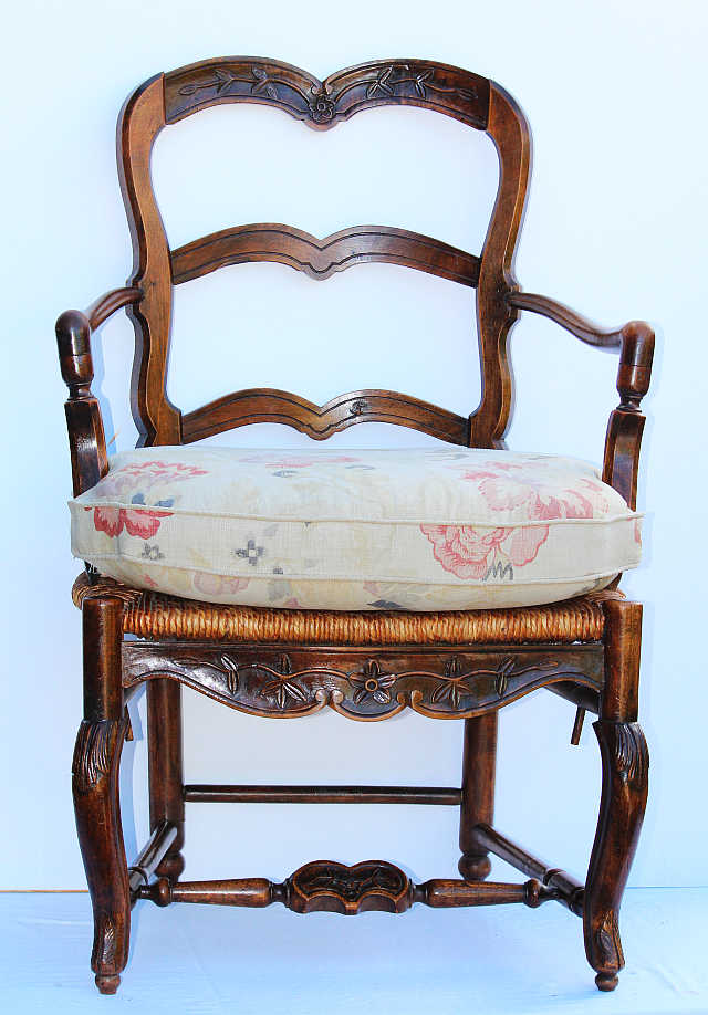Pair of Country French Louis XV Style Chairs