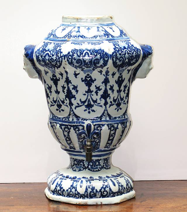 French Faience Urn