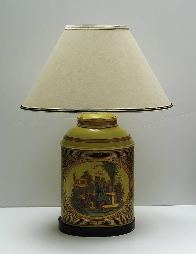Chinoiserie Tea Canister Lamp
