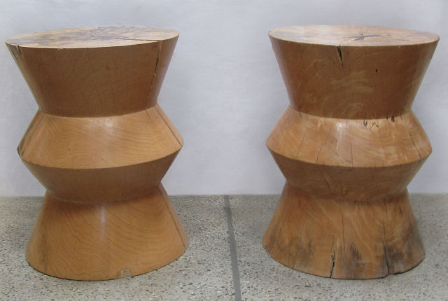Pair of Carved Trunk Coffee Tables