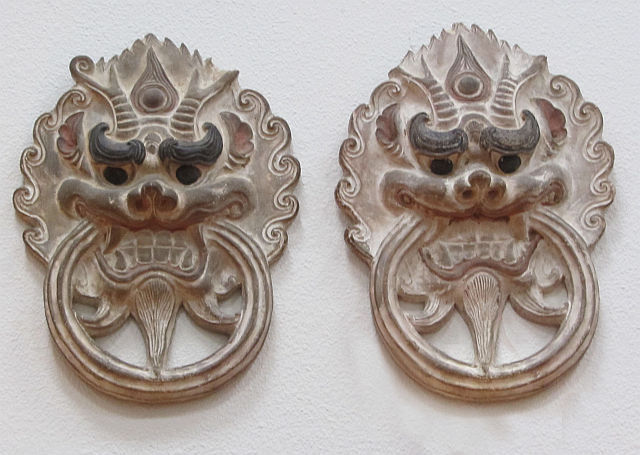 Pair of Chinese Terra Cotta Plaques
