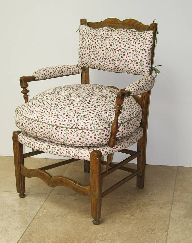 Louis XVI Style Rustic Chair