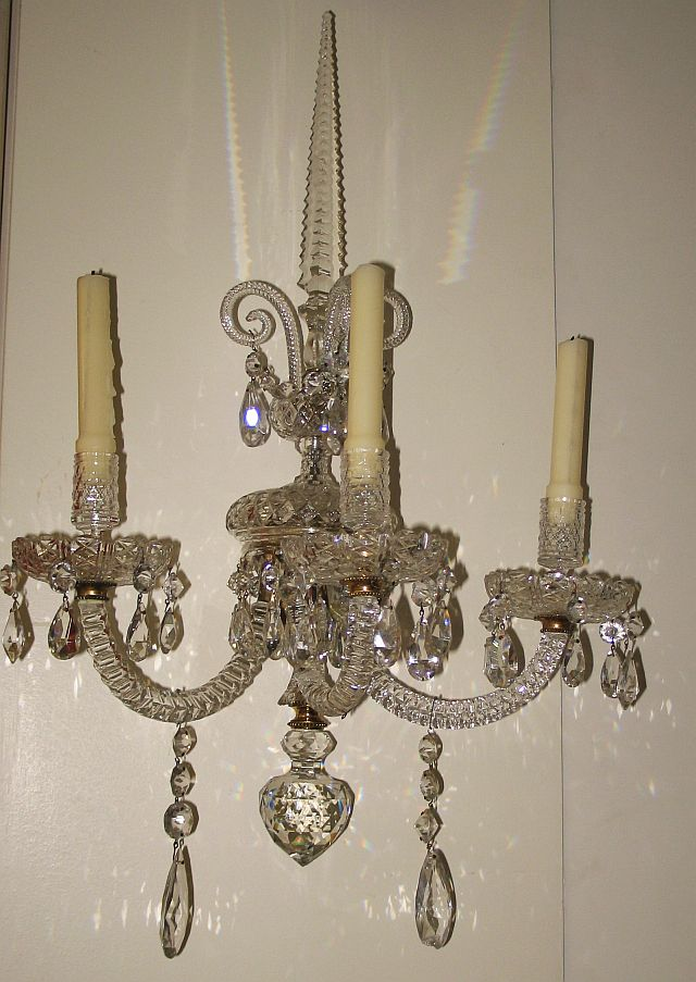 English Crystal Sconce