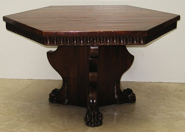 Evans Gerst Antiques Hexagonal Coffee Table