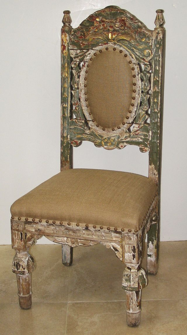 Set of 4 Spanish Colonial Side Chairs