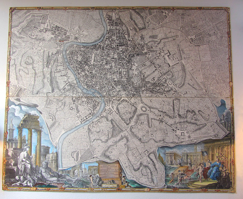 Topographical Map of Rome