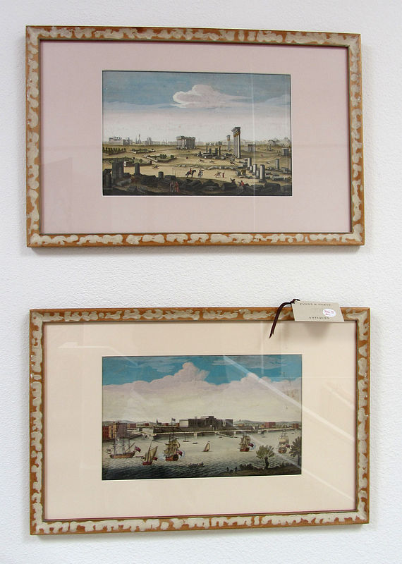 Two European Hand Colored Prints