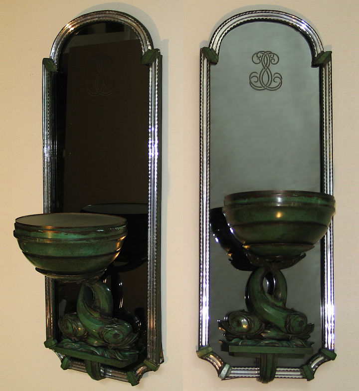 Pair of French Art Deco Wall Sconces