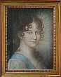 French Pastel Portrait of a Young Woman