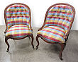 Pair of Napoleon III Pull Up Chairs