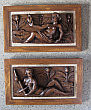 Pair of Continental Oak Carved Plaques