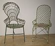 Two American Wire Garden Chairs